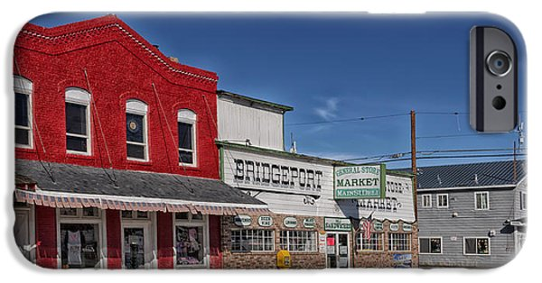 Business Photographs iPhone Cases - Downtown Bridgeport California iPhone Case by Mountain Dreams