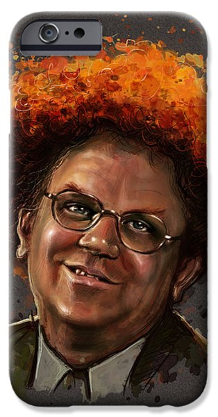 Dr. Steve Brule  iPhone Case by Fay Helfer