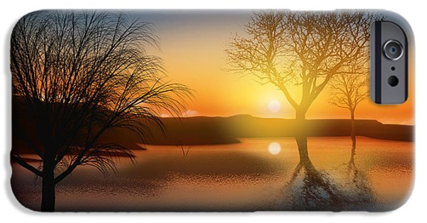 Reflecting iPhone Cases - Dramatic Landscape iPhone Case by Setsiri Silapasuwanchai