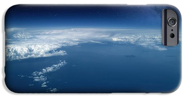 Jet Star iPhone Cases - Earth From High-altitude Aircraft iPhone Case by Detlev van Ravenswaay