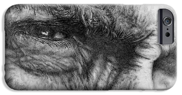 Dirty Drawings iPhone Cases - Eastwood iPhone Case by Roy Kaelin