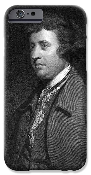 Orator iPhone Cases - Edmund Burke, Irish Politician iPhone Case by Middle Temple Library