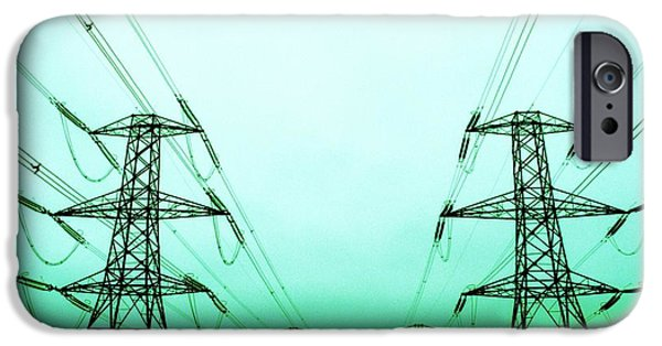 Electrical iPhone Cases - Electricity Pylons iPhone Case by Kevin Curtis