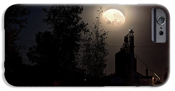 Haunted House iPhone Cases - Elevator Moon iPhone Case by David Matthews