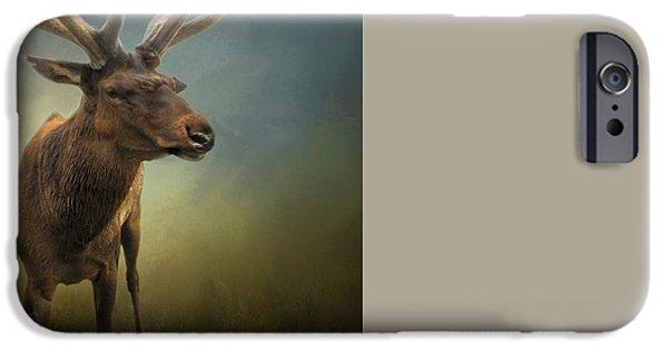 Nebraska iPhone Cases - Elk iPhone Case by David and Carol Kelly