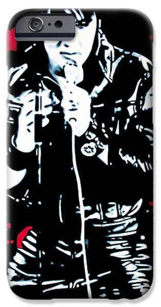 Ludzska iPhone Cases - Elvis iPhone Case by Luis Ludzska