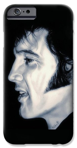 Aaron Drawings iPhone Cases - Elvis Presley  The King iPhone Case by Fred Larucci