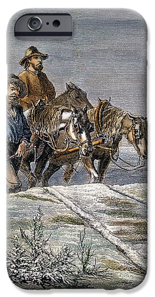 EMIGRANTS, 1874 iPhone Case by Granger
