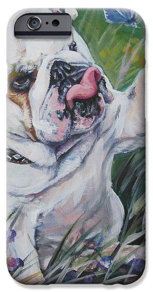 English Bulldog iPhone Case by Lee Ann Shepard