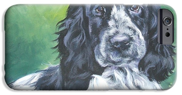 Cocker Spaniel Paintings iPhone Cases - English Cocker Spaniel iPhone Case by Lee Ann Shepard