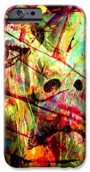 Modern Abstract iPhone Cases - Enough iPhone Case by Richard Ray