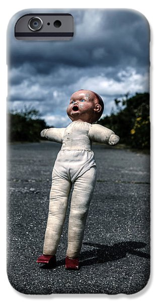 Creepy iPhone Cases - Falling Doll iPhone Case by Joana Kruse