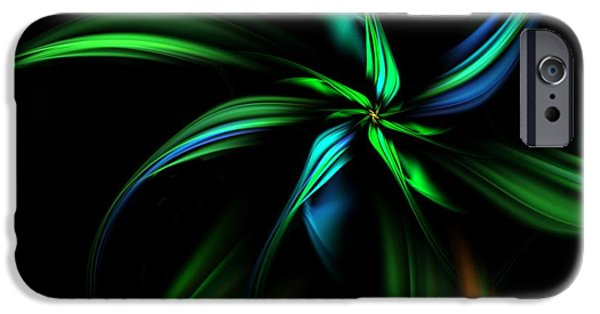 Si-fi Fractal iPhone Cases - Fantasy Flower iPhone Case by David Lane