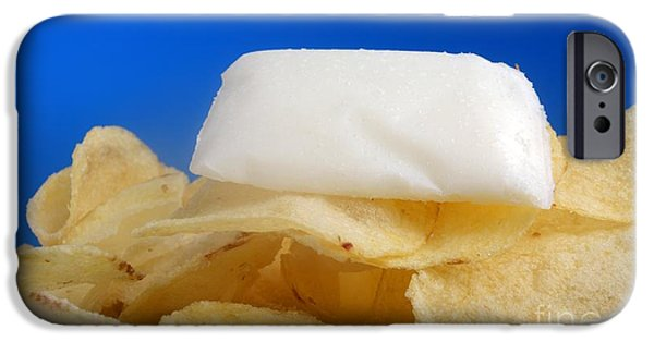 Chip iPhone Cases - Fat Content In Potato Chips, Conceptual iPhone Case by Victor de Schwanberg