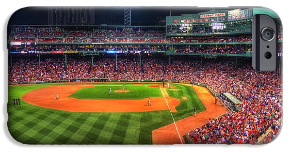 Fenway Park iPhone Cases - Fenway Park at Night - Boston iPhone Case by Joann Vitali