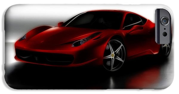 French Open iPhone Cases - Ferrari 458 iPhone Case by Brian Reaves