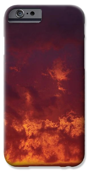 Fiery Clouds iPhone Case by Michal Boubin