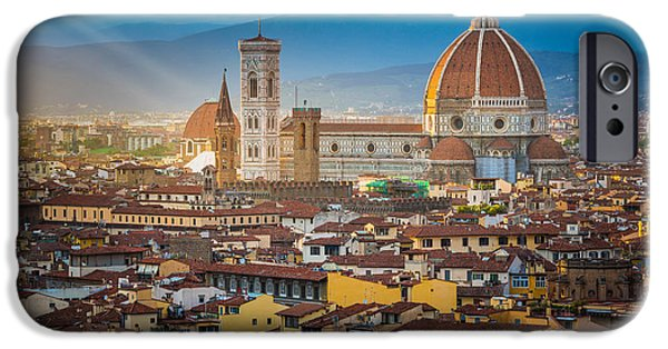 Tuscan Hills iPhone Cases - Firenze Duomo iPhone Case by Inge Johnsson