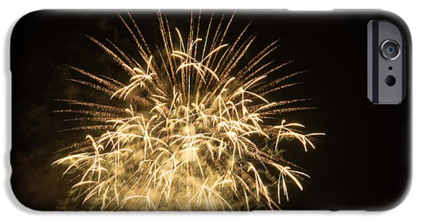 Recently Sold -  - 4th July Pyrography iPhone Cases - Fireworks iPhone Case by Erich Boehm