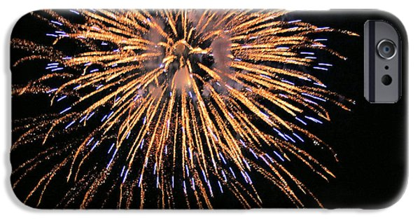 Fireworks iPhone Cases - Fireworks iPhone Case by Kristin Elmquist