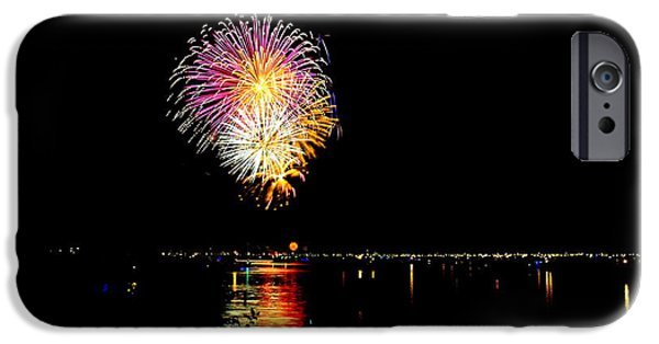 4th July iPhone Cases - Fireworks iPhone Case by Mark Madion