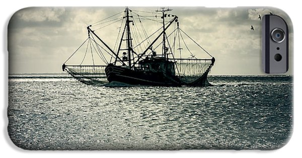 North Sea iPhone Cases - Fishing Boat iPhone Case by Joana Kruse