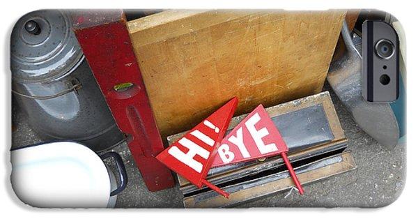Furniture iPhone Cases - Hells Kitchen Flea Market iPhone Case by Jim Ramirez
