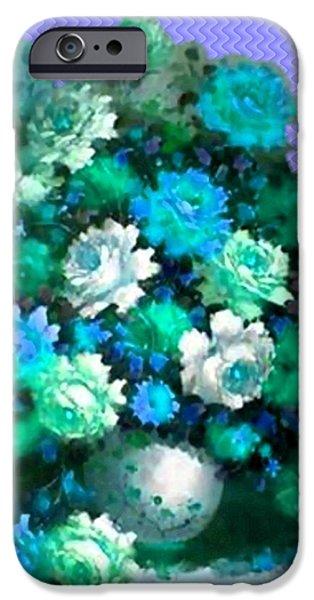 Digital Art Pastels iPhone Cases - Flower Bouquet Catus 1 no. 5 V a iPhone Case by Gert J Rheeders