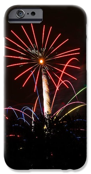 Fourth Of July iPhone Cases - Flower Fire iPhone Case by Keith Brodeur
