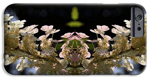 Floral Digital Art Digital Art iPhone Cases - Flying Flower  iPhone Case by Daniel Unfried