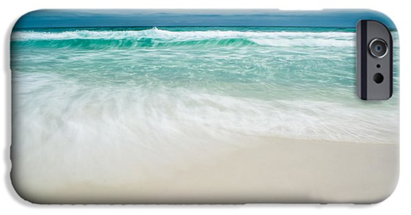 Splashy iPhone Cases - Foaming Waves iPhone Case by Shelby  Young