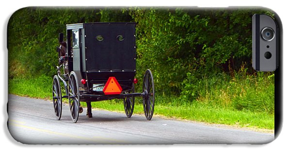 Amish Community Photographs iPhone Cases - Follow Me iPhone Case by Tina M Wenger