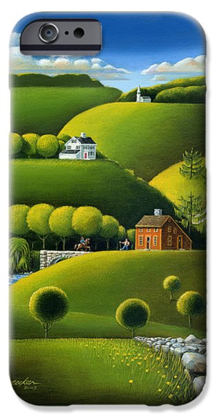 Willow iPhone Cases - Foothills of the Berkshires iPhone Case by John Deecken