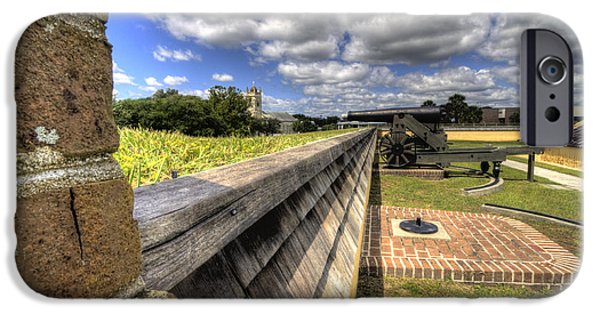 Fort iPhone Cases - Fort Moultrie Cannon iPhone Case by Dustin K Ryan