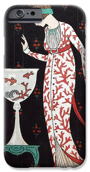 Georges Barbier iPhone Cases - French Fashion, George Barbier, 1913 iPhone Case by Science Source