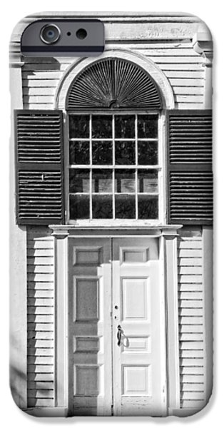 Old And New iPhone Cases - Front Door Old Country Church In Maine iPhone Case by Keith Webber Jr