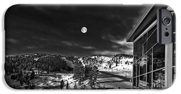 Snow Scene iPhone Cases - Full Moon iPhone Case by Maria Coulson