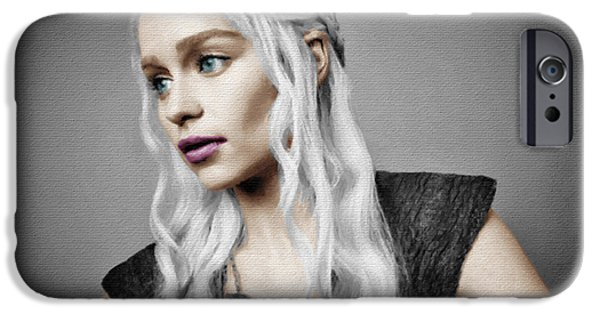 Epic iPhone Cases - Game of Thrones Khaleesi Daenerys Targaryen Emilia Clarke iPhone Case by Tony Rubino
