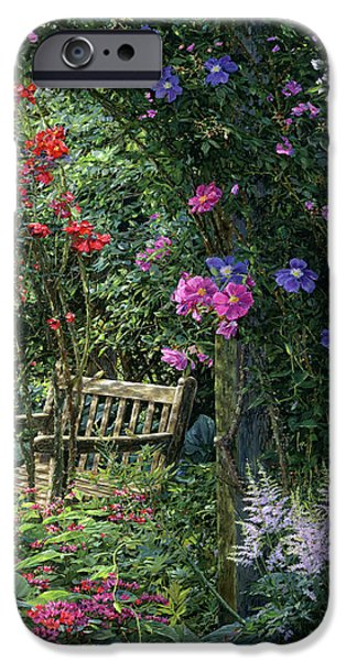 Chicago Paintings iPhone Cases - Garden Respite iPhone Case by Doug Kreuger