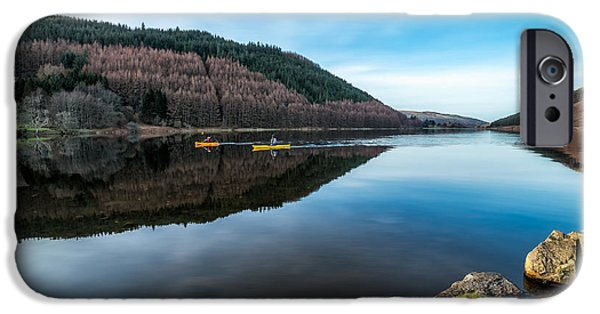 Canoe iPhone Cases - Geirionydd Lake iPhone Case by Adrian Evans