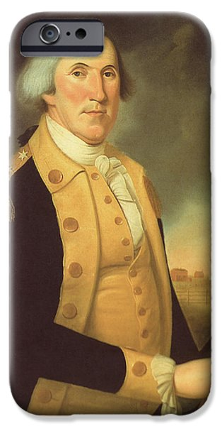 American Revolution iPhone Cases - General George Washington iPhone Case by War Is Hell Store