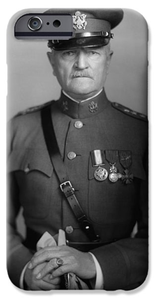 World War One Photographs iPhone Cases - General John Pershing iPhone Case by War Is Hell Store