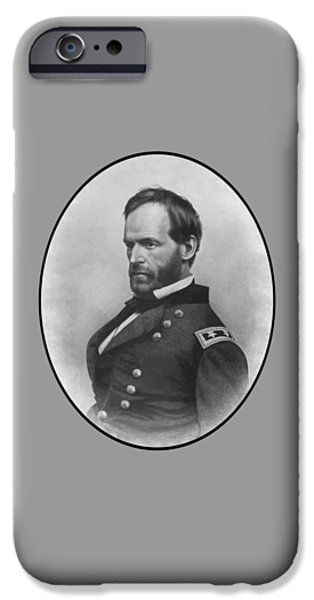 Williams iPhone Cases - General Sherman iPhone Case by War Is Hell Store