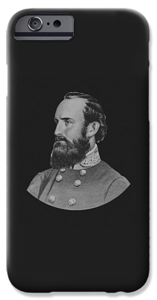 American History iPhone Cases - General Stonewall Jackson iPhone Case by War Is Hell Store