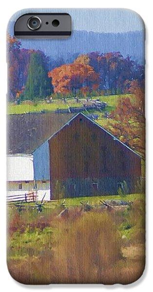 Gettysburg Barn iPhone Case by Bill Cannon