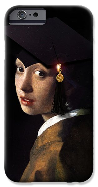 Spoof iPhone Cases - Girl with the Grad Cap iPhone Case by Gravityx9   Designs