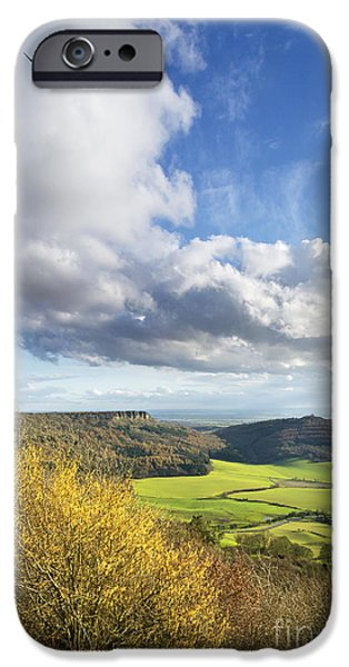 Sutton iPhone Cases - Gliding High Over Sutton Bank iPhone Case by John Potter