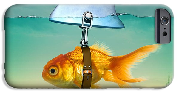 Animation iPhone Cases - Gold Fish  iPhone Case by Mark Ashkenazi