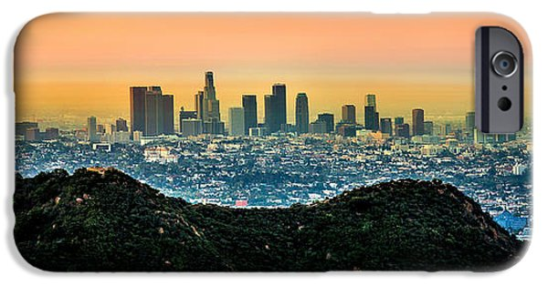 Locations iPhone Cases - Golden California Sunrise iPhone Case by Az Jackson