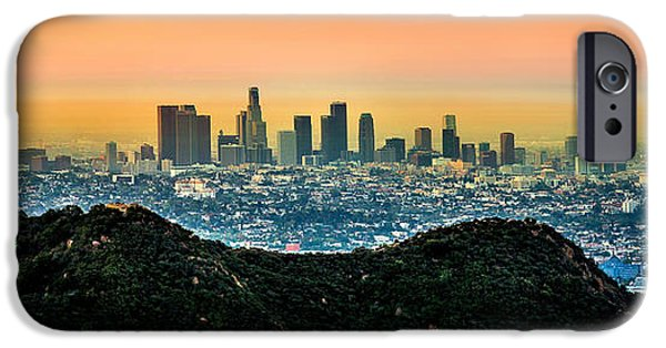 Sign iPhone Cases - Golden California Sunrise iPhone Case by Az Jackson